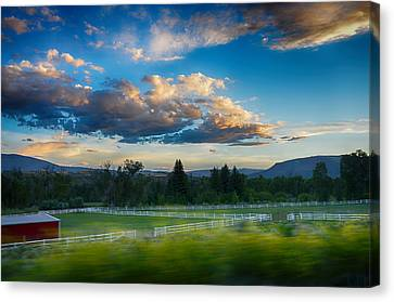 Breathtaking Colorado Sunset 1 Canvas Print by Angelina Vick