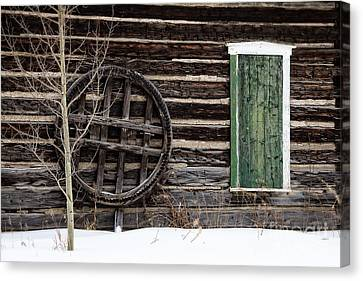 Breckenridge History In The Snow Canvas Print by Deborah Scannell