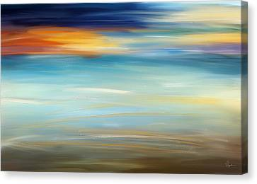 Breeze-seascapes Abstract Art Canvas Print by Lourry Legarde