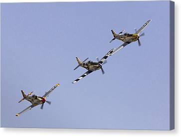 Bremont P-51 Formation Canvas Print