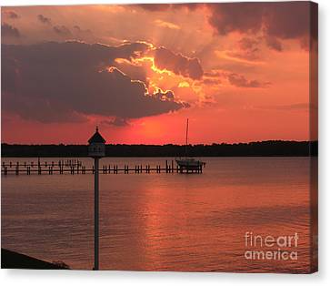 Breton Bay Sunset Canvas Print