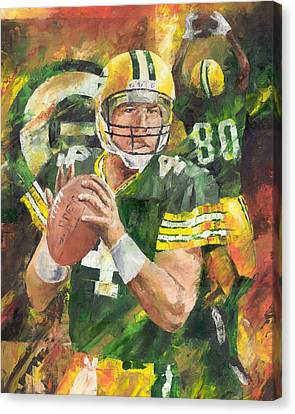 Brett Favre Canvas Print by Christiaan Bekker