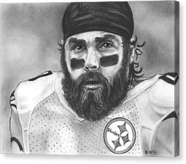 Steelers Canvas Print - Brett Keisel by Adam Acosta