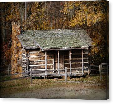 Brewer Cabin In Fall - Autumn Landscape Canvas Print by Jai Johnson