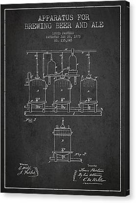 Brewing Beer And Ale Apparatus Patent Drawing From 1873 - Dark Canvas Print
