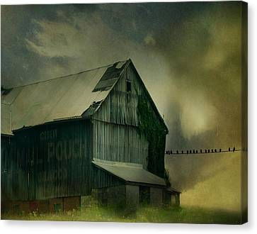 Storm Is Brewing Canvas Print by Gothicrow Images