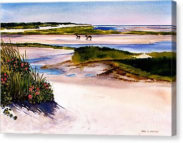 Brewster Ebb Tide Canvas Print by Karol Wyckoff