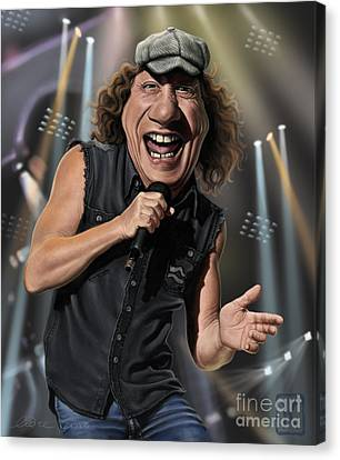 Johnson Canvas Print - Brian Johnson by Andre Koekemoer