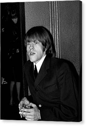 Brian Jones In Dublin 1965 Canvas Print by Irish Photo Archive