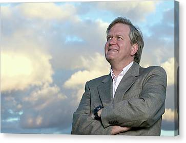 The Universe Canvas Print - Brian Schmidt by Emilio Segre Visual Archives/american Institute Of Physics