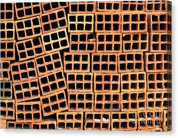 Brick Abstract Canvas Print by Vivian Christopher