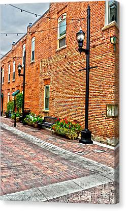 Brick Alley Canvas Print by Baywest Imaging