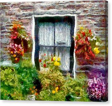 Brick And Blooms Canvas Print by RC deWinter
