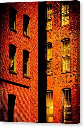Brick And Glass Canvas Print by Matthew Blum