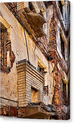 Canvas Print featuring the photograph Brick And Mortar by Lawrence Burry