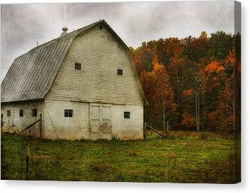 Canvas Print featuring the photograph Brick Barn by Joan Bertucci