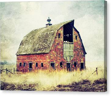 Lightning D Canvas Print - Brick Barn  by Julie Hamilton