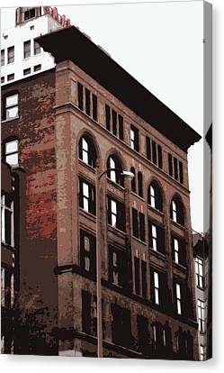 Brick Old Timey Building Canvas Print by Laurie Pike