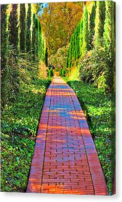 Canvas Print featuring the photograph Brick Path by Joseph Hollingsworth