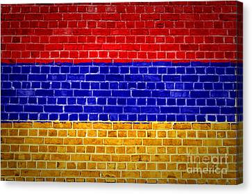 Brick Wall Armenia Canvas Print by Antony McAulay