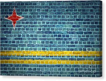 Brick Wall Aruba Canvas Print by Antony McAulay
