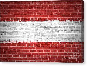 Brick Wall Austria Canvas Print by Antony McAulay