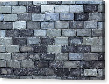 Canvas Print featuring the photograph Brick Wall Background Or Texture  by Tosporn Preede