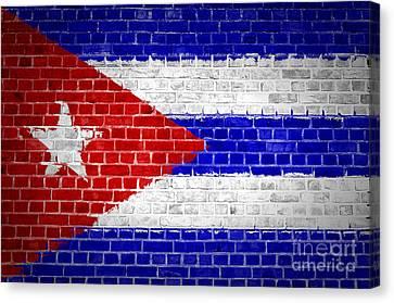 Brick Wall Cuba Canvas Print by Antony McAulay