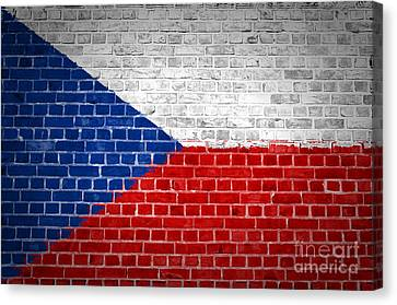 Brick Wall Czech Republic Canvas Print by Antony McAulay