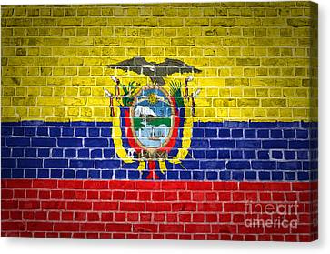 Brick Wall Ecuador Canvas Print by Antony McAulay