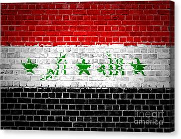 Brick Wall Iraq Canvas Print by Antony McAulay