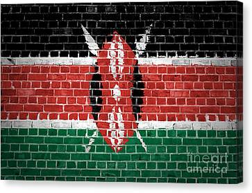 Brick Wall Kenya Canvas Print by Antony McAulay