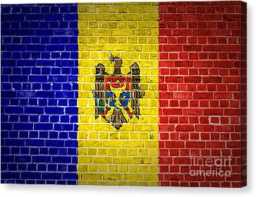 Brick Wall Moldova Canvas Print by Antony McAulay
