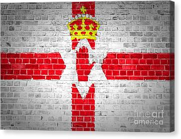 Brick Wall Northern Ireland Canvas Print