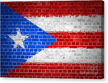 Brick Wall Puerto Rico Canvas Print by Antony McAulay