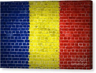 Brick Wall Romania Canvas Print by Antony McAulay