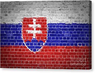 Brick Wall Slovakia Canvas Print by Antony McAulay