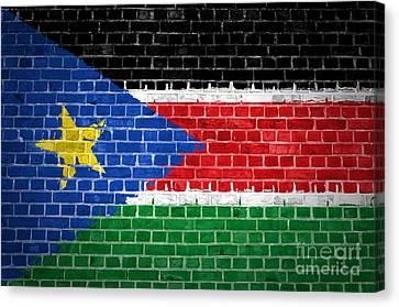 South Sudan Canvas Print - Brick Wall South Sudan by Antony McAulay