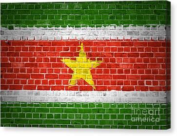 Brick Wall Suriname Canvas Print by Antony McAulay