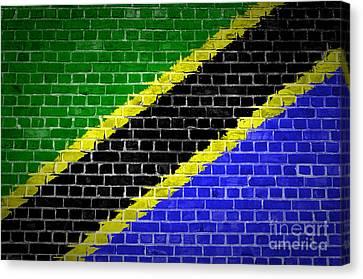 Brick Wall Tanzania Canvas Print