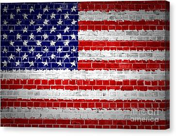 Brick Wall United States Canvas Print by Antony McAulay