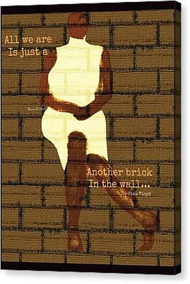 Brickinthewall Canvas Print by Romaine Head