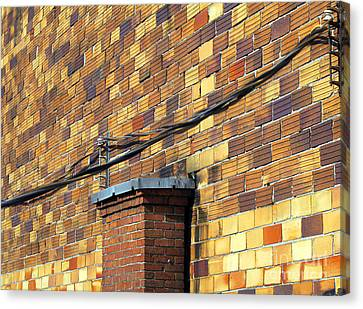 Bricks And Wires Canvas Print by Ethna Gillespie