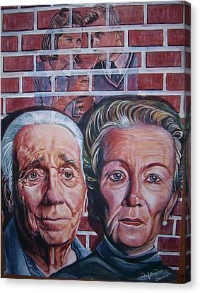 Brickwall Canvas Print by Linda Vaughon