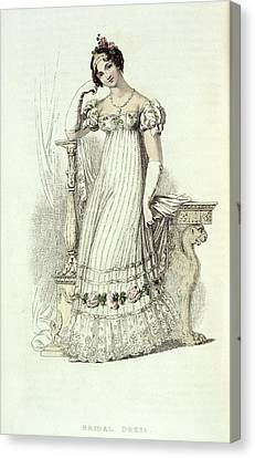 Bridal Dress Canvas Print by British Library