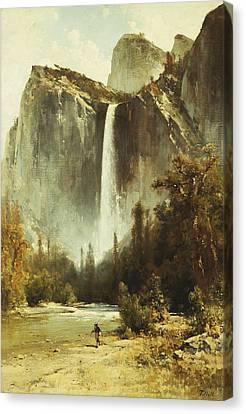 Bridal Falls Canvas Print by Thomas Hill