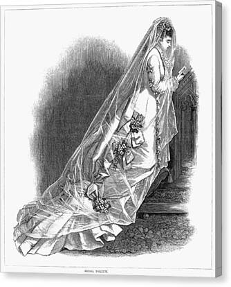 Bridal Gown, 1876 Canvas Print by Granger