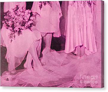Maid Of Honor Canvas Print - Bridal Pink By Jrr by First Star Art