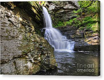 Falling Water Creek Canvas Print - Bridal Veil Waterfalls by Paul Ward