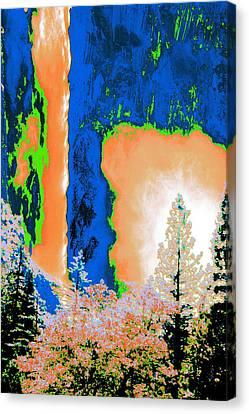 Bridalveil Fall Abstract Canvas Print